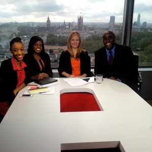 The panel on Arise News with host Phil Gayle.