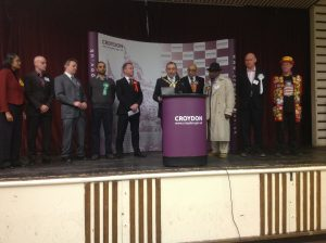 Candidates waiting in anticipation of the Croydon North by-election results, which were broadcast live on Croydon Radio